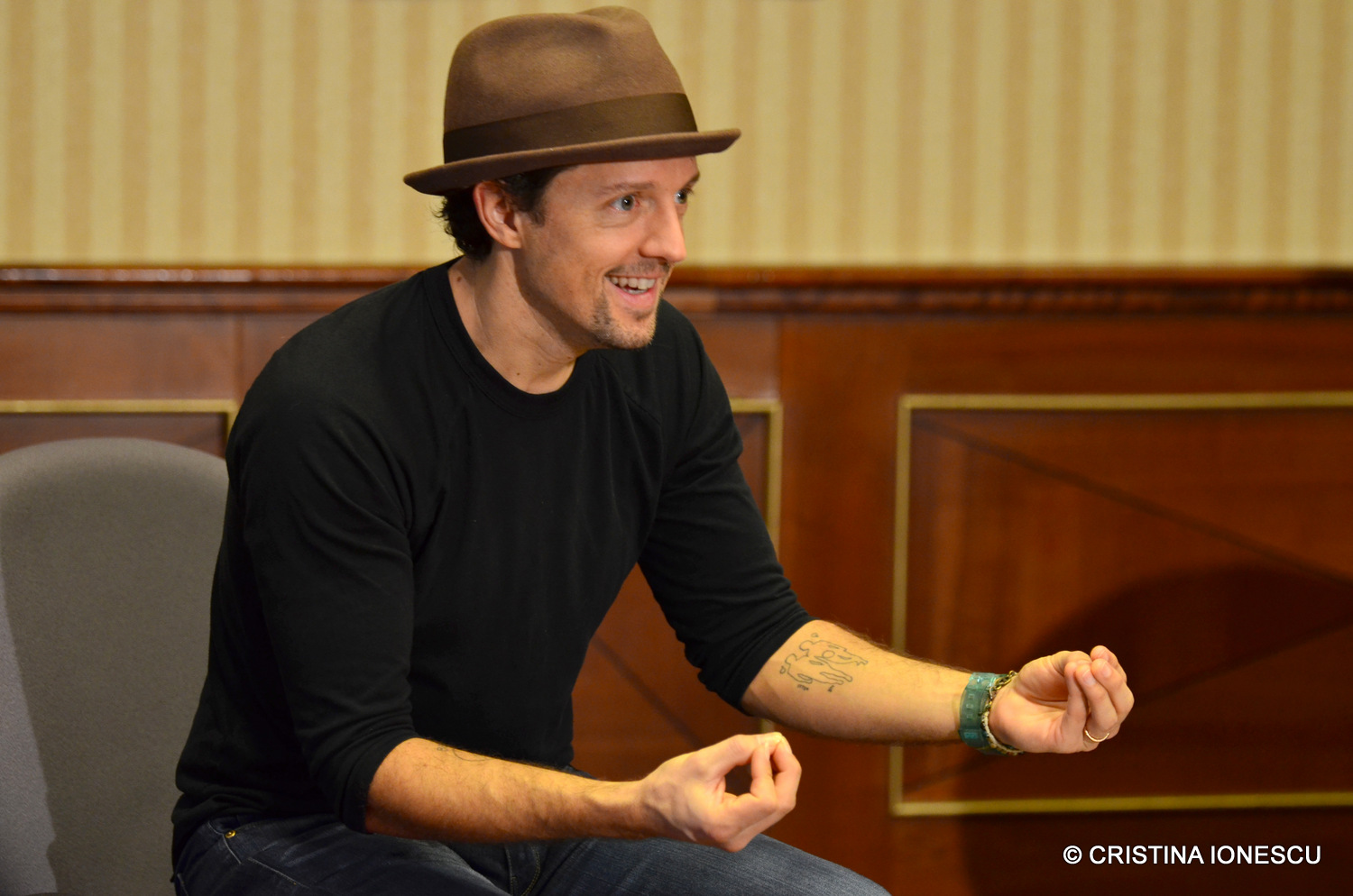 Jason Mraz's press conference before the concert @ Bucharest, 2017
